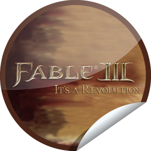 Villager Sticker for Fable III - You're on the Road to Rule. Visit the official page for Fable 3 (Rated M): marketplace.xbox.com/en-US/Product/Fable-III/66acd000-77fe-1000-9115 Share this one proudly. It's from our friends at Xbox.