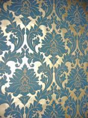 Details About New Vintage Elegance Teal Damask Gold Wallpaper Roll