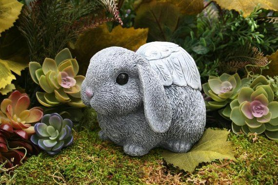 Lop Bunny Angel Statue Bunny Rabbit Angels Lop Eared