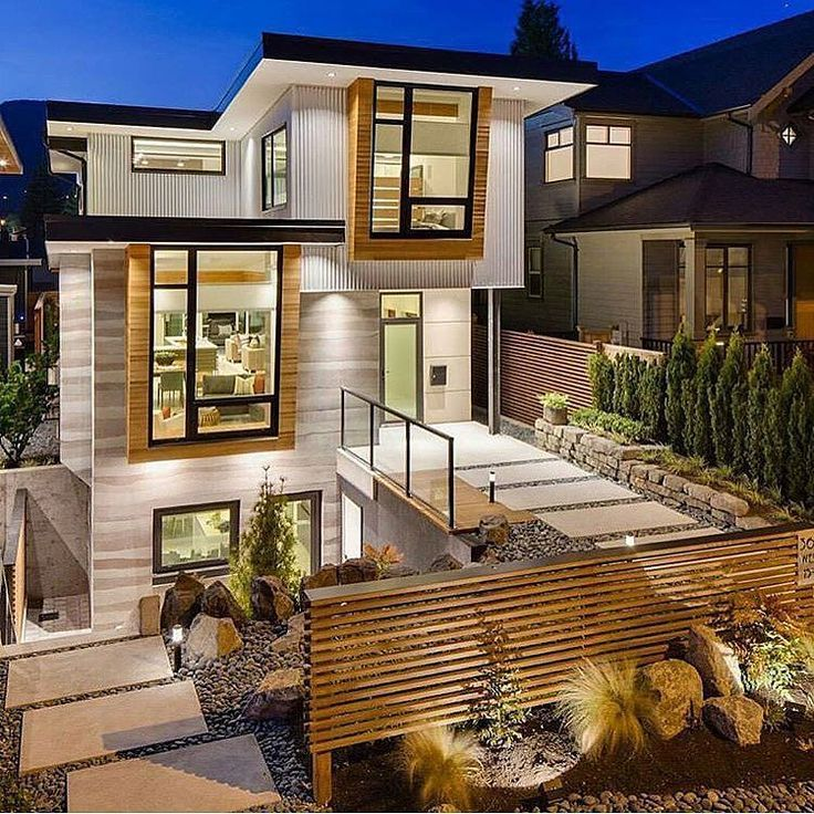 Image result for steep slope house design ideas Modern