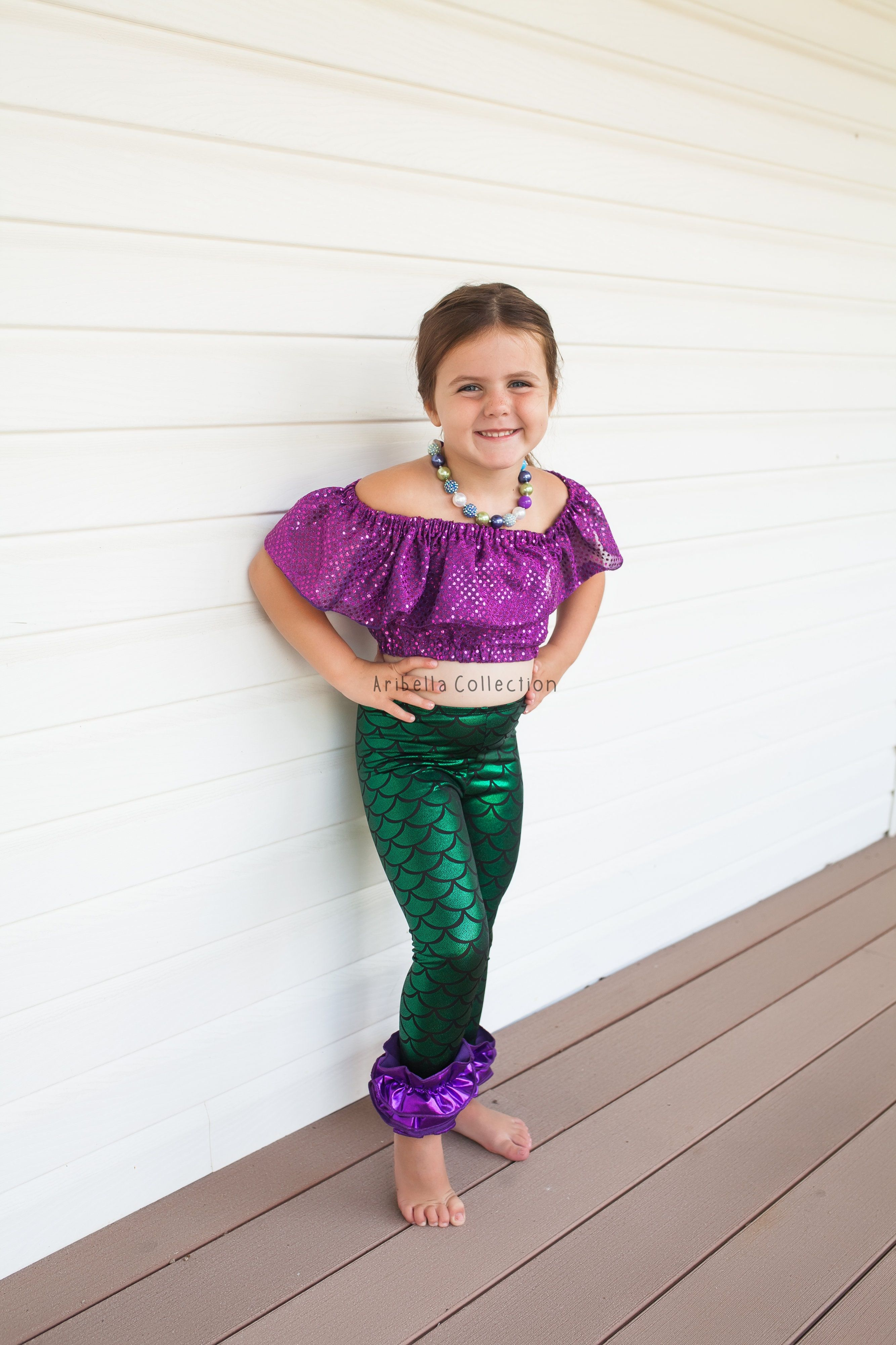 cb0954ba615e29 Mermaid Ruffle Leggings Kids, Icing Pants, Baby Toddler Girls, Little, Fish  Scale, Birthday Party Outfit, Costume, Photoshoot, 40% Off Sale