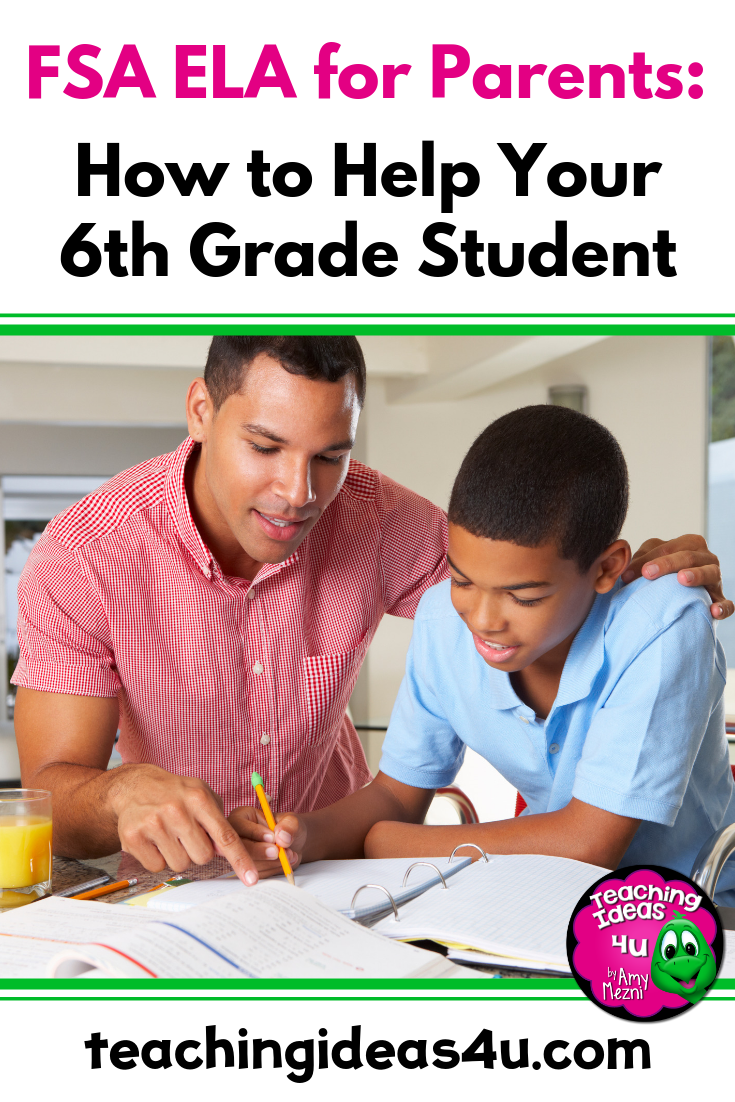 6th Grade Fsa Ela For Parents Teaching Resources And Lesson Plans Teaching Ideas 4u By Amy Mezni Homeschool Middle School Teaching Middle School Resources [ 1102 x 735 Pixel ]