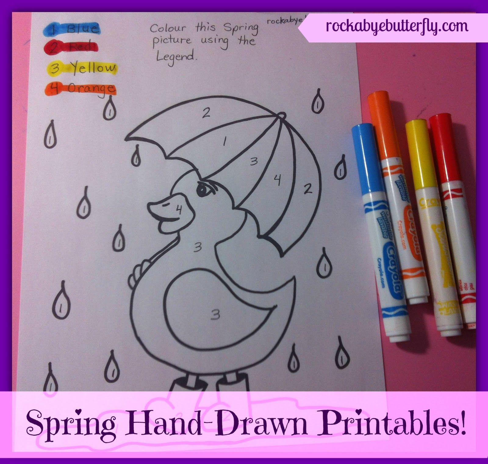 Rockabye Butterfly Spring Hand Drawn Printables