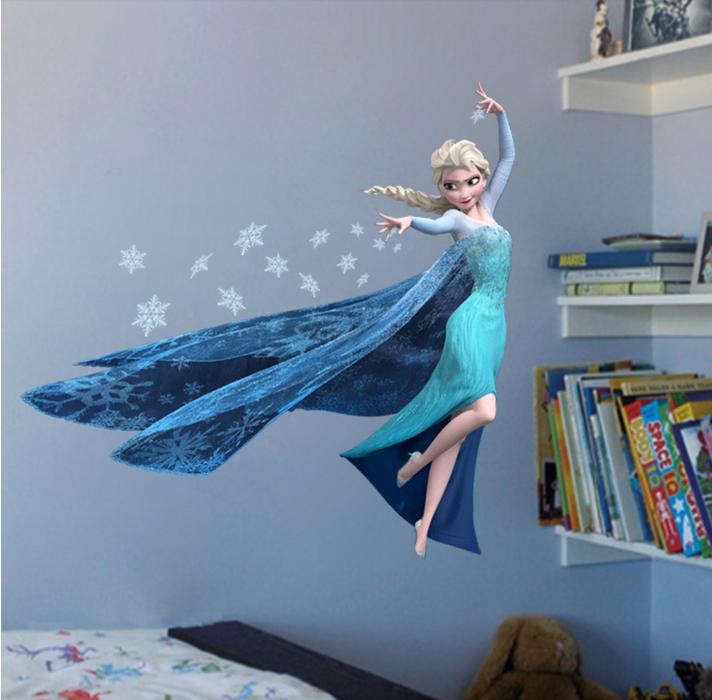 Cartoon Lovely Disney Frozen Wall Sticker Elsa Anna Decal For Child Home Decor