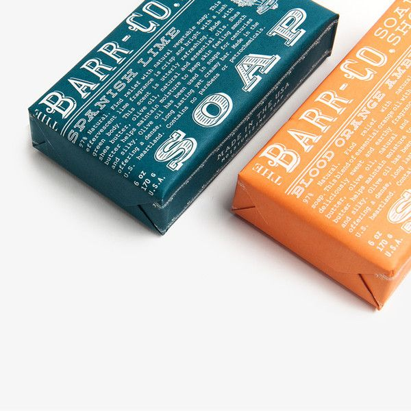 NEW! Barr-Co. Soaps in Spanish Lime and Blood Orange Amber