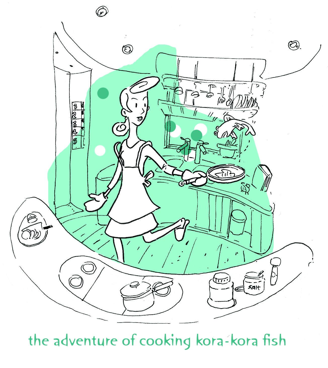Kora Kora Fish Sketches Comic Strips Fish