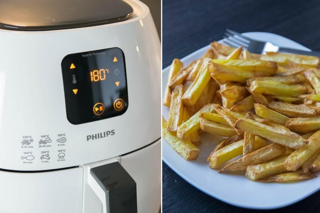 Knusprige Pommes Aus Der Heissluft Fritteuse Philips Airfryer Xl Im Test Rezept Susskartoffel Pommes Heissluftfriteuse Rezepte Essen