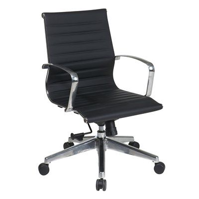 Office Star Osp Furniture Executive Mid Back Chair At Lowe S Canada Find Our Selection Of Chairs The Lowest Price Guaranteed With
