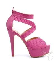 damske ruzove sandale CUBA #shoes #heels