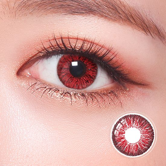 Super Pinky Bright Red Contact Lenses Colored Colored Eye Contacts Colored Contacts