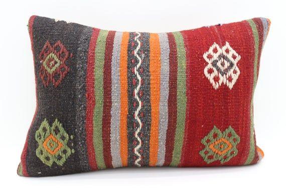 Home Decor Pillow 16x24 Throw Kilim Pillow Striped Kilim Pillow Pillow 16x24 Lumbar Kilim Pillow Embroidery Pillow Cushion Cover SP4060-1745