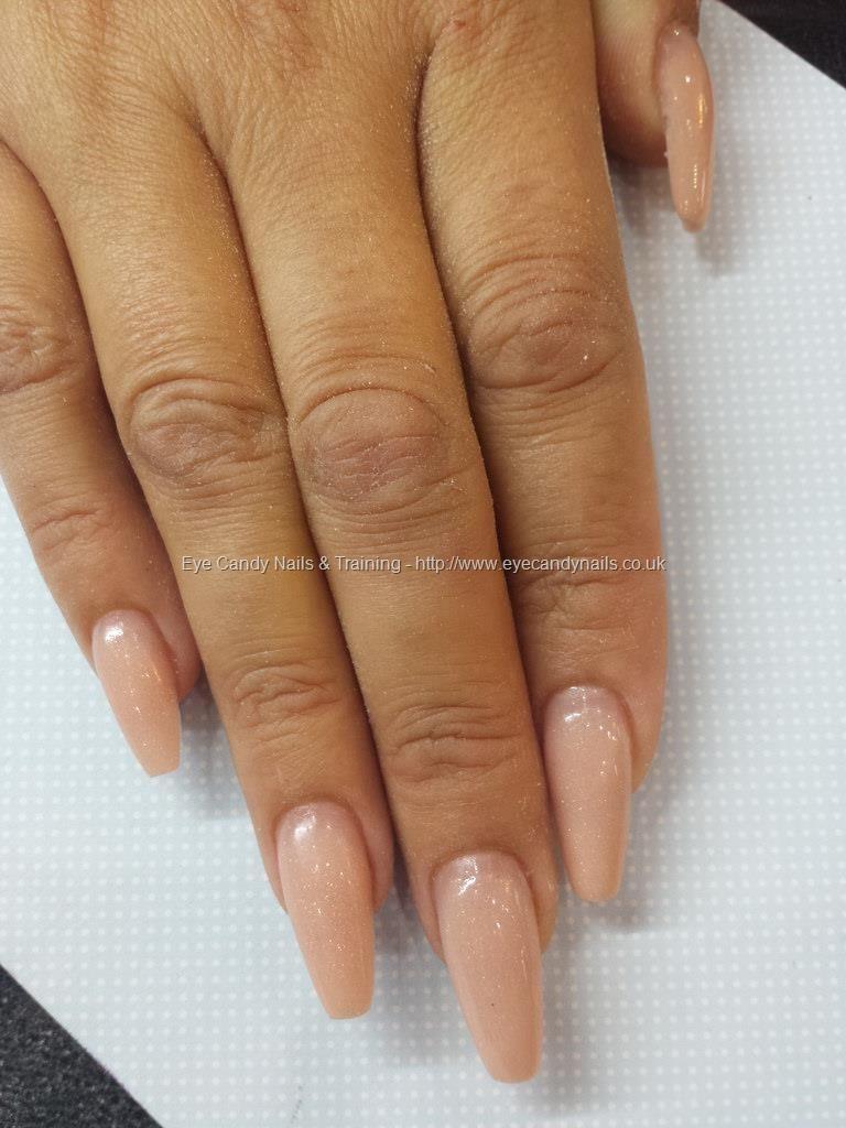 leta efter söt modestilar Ballerina shape with nsi nude acrylic #NailArt #Nails   Coffin ...
