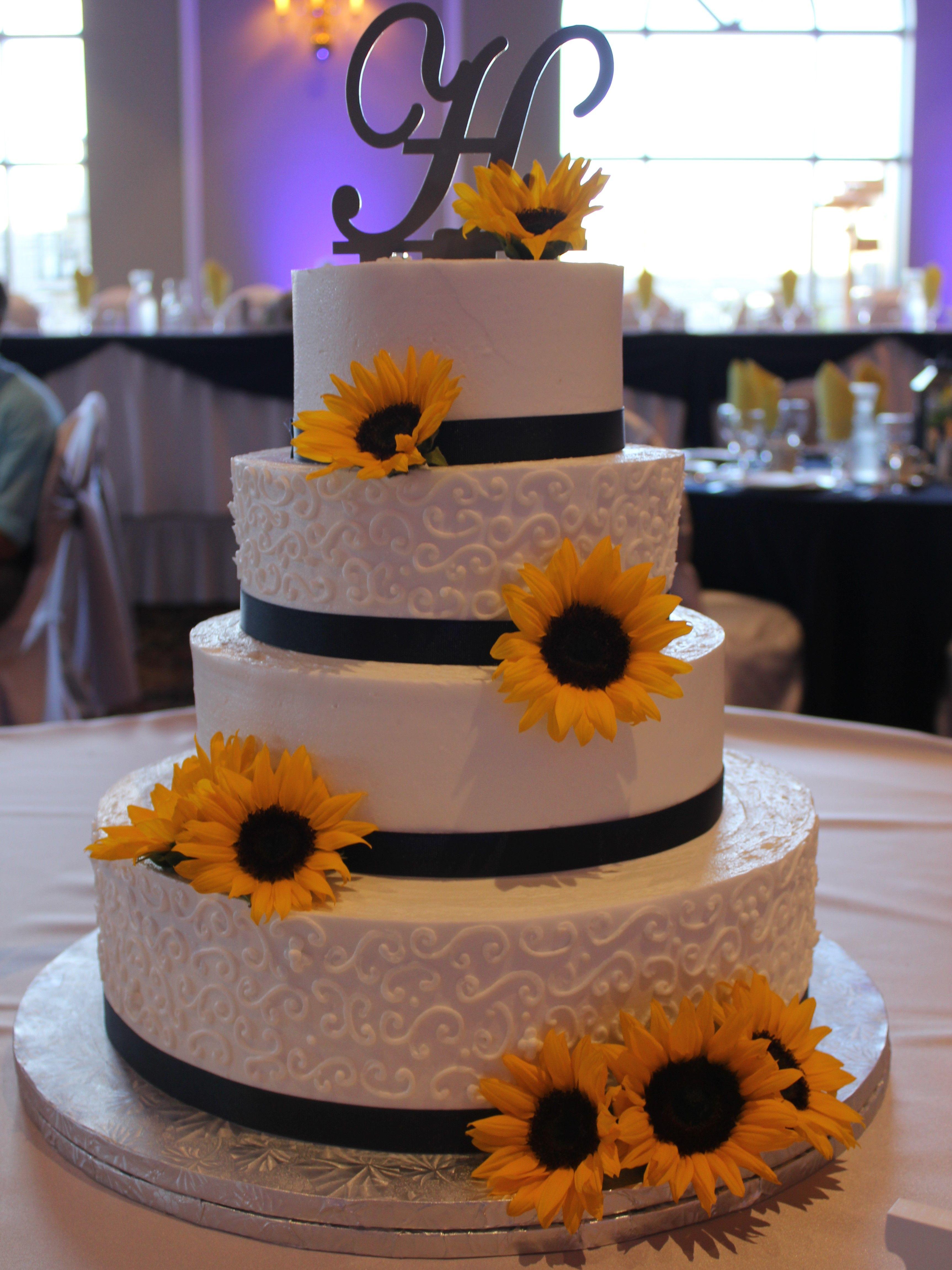 Sunflower Themed Diaper Cake Sunflower Baby Shower   Etsy