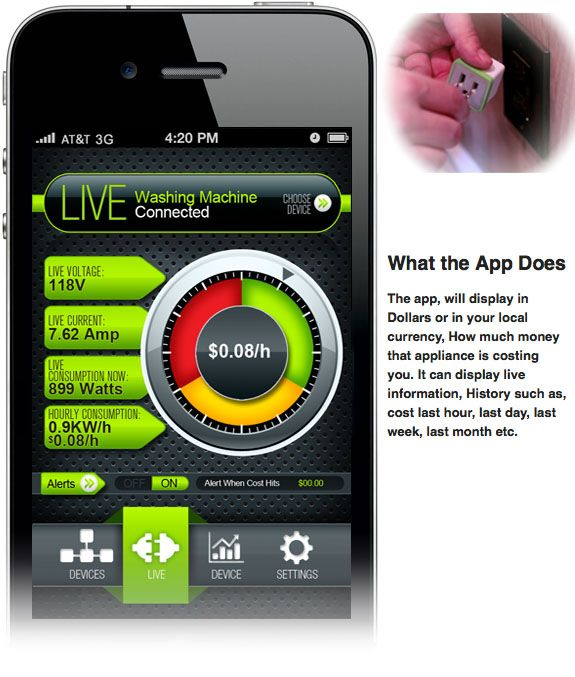 Electricity Tracking Device & iPhone App Keep Your Bills