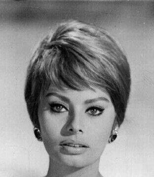Sophia Loren Love Her Short Hair Do Vintage Short Hair Short Hair Styles Hair Styles