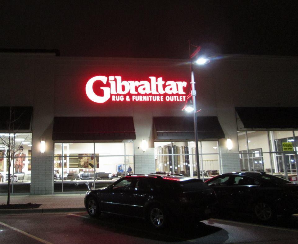 New Sign For Gibraltar Rug U0026 Furniture Outlet In Warren, Michigan.