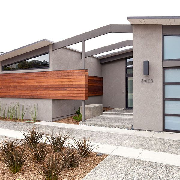 Stunning mid century modern renovation in san diego mid for House facade renovation ideas
