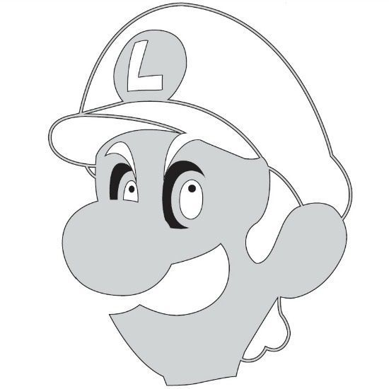 Luigi Mario brothers Free Halloween pumpkin carving stencil design - pumpkin carving template