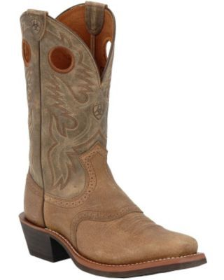 Ariat Heritage Roughstock Men\u0027s Earth with Brown Bomber