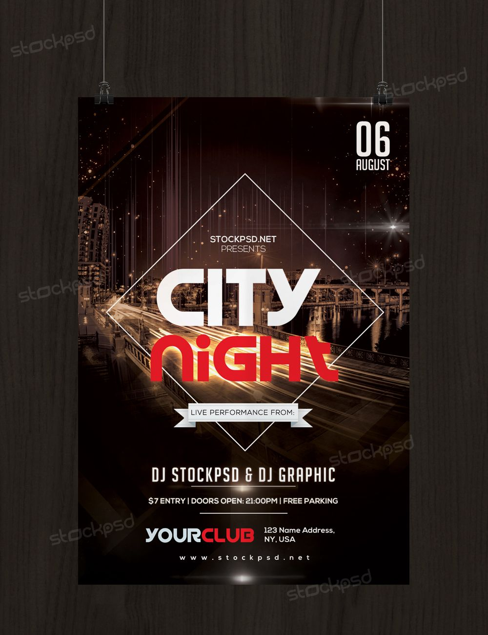 City Night Flyer Is A Free Psd Flyer Template To Download Psd File Is Fully Editable And Very Easy Free Psd Flyer Templates Psd Flyer Templates Free Psd Flyer Flyer template psd free download