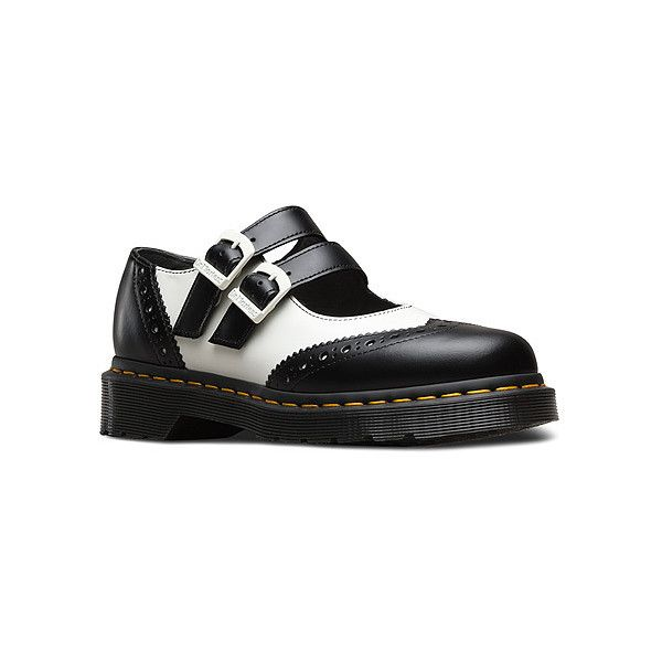 Dr. Martens Adena II Double Strap Mary Jane Mary Janes (400 BRL) ❤ liked on  Polyvore featuring shoes, black smooth, casual shoes, women, loafer shoes,  ...