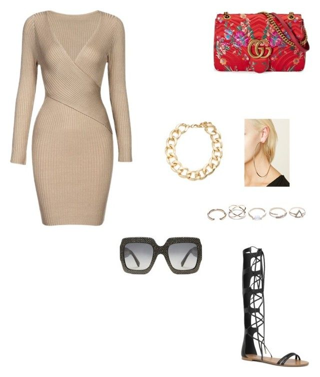 """""""Untitled #116"""" by gcardentey on Polyvore featuring ALDO, Gucci, Forever 21, GUESS and Kenneth Jay Lane"""