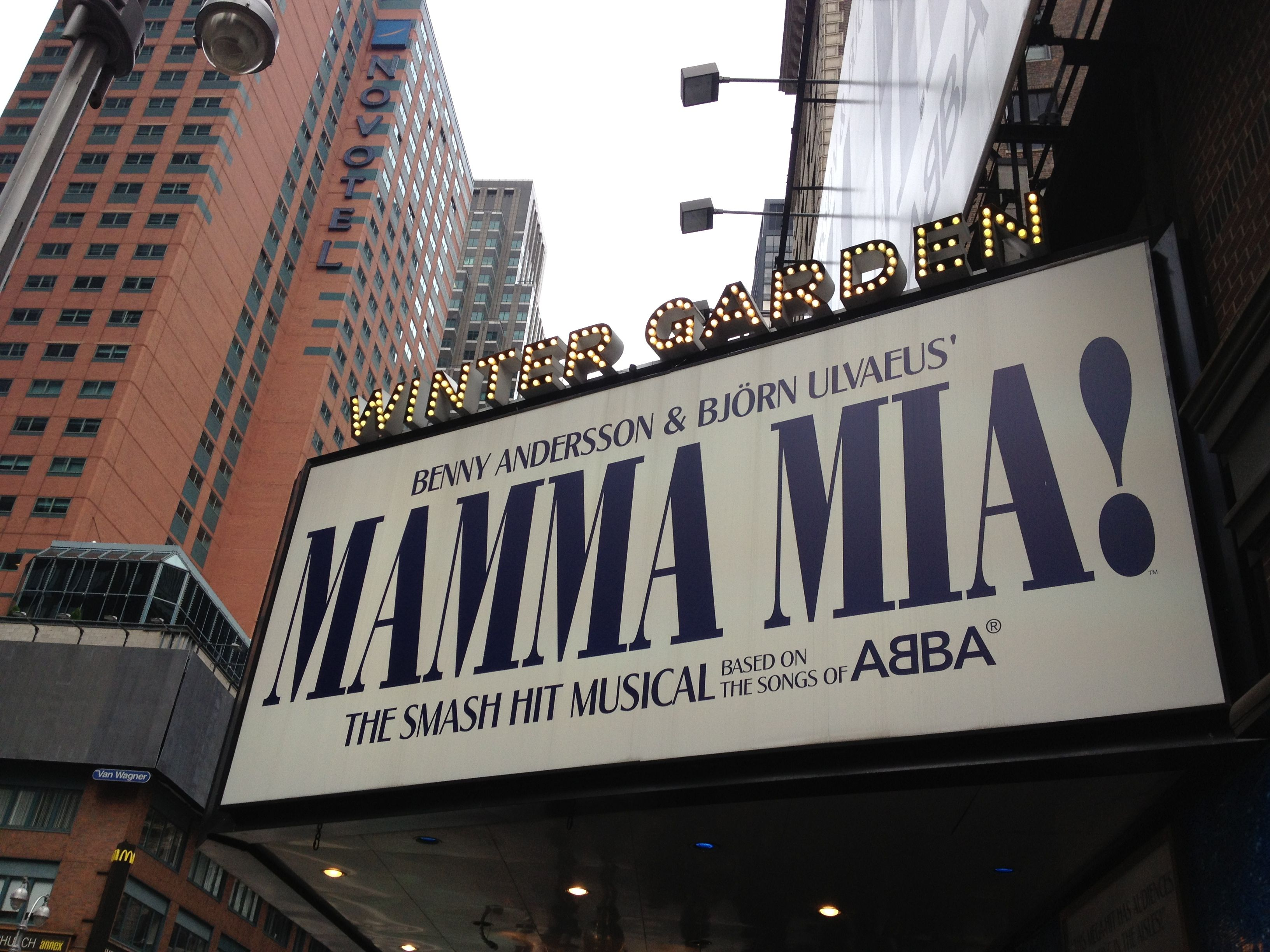 winter garden theatre currently showing mama mia new york city