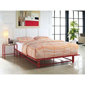 Parsons Full Metal Ledge Platform Bed Red Anything