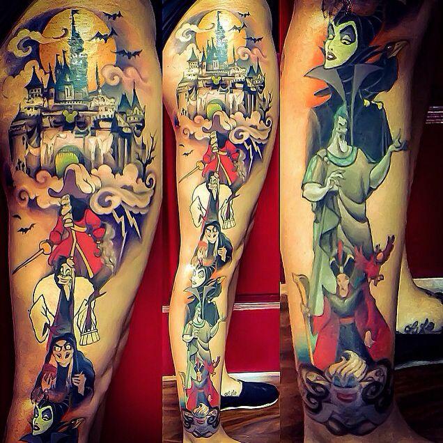 83 Awesome Y G Tattoos Cool Tattoo Designs: Disney Villain Tattoo