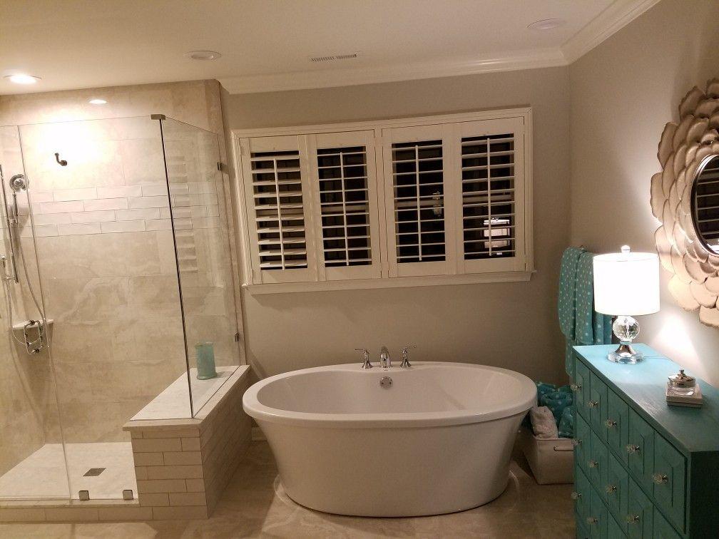 Freestanding tub: MTI Basics with deck mount faucet, Kohler ...