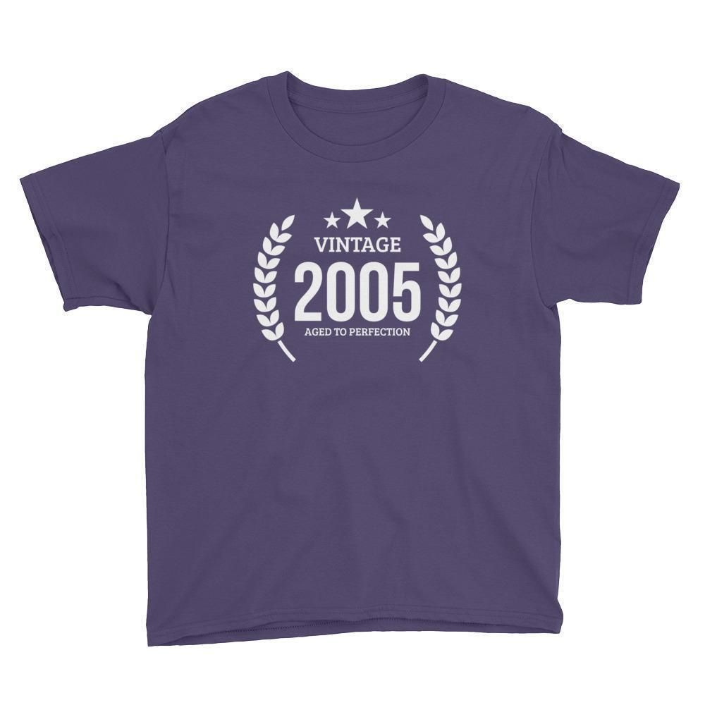 Youth Vintage 2005 Aged to perfection T-shirt - 2005 birthday gift ideas - 12th birthday gift for girls boys
