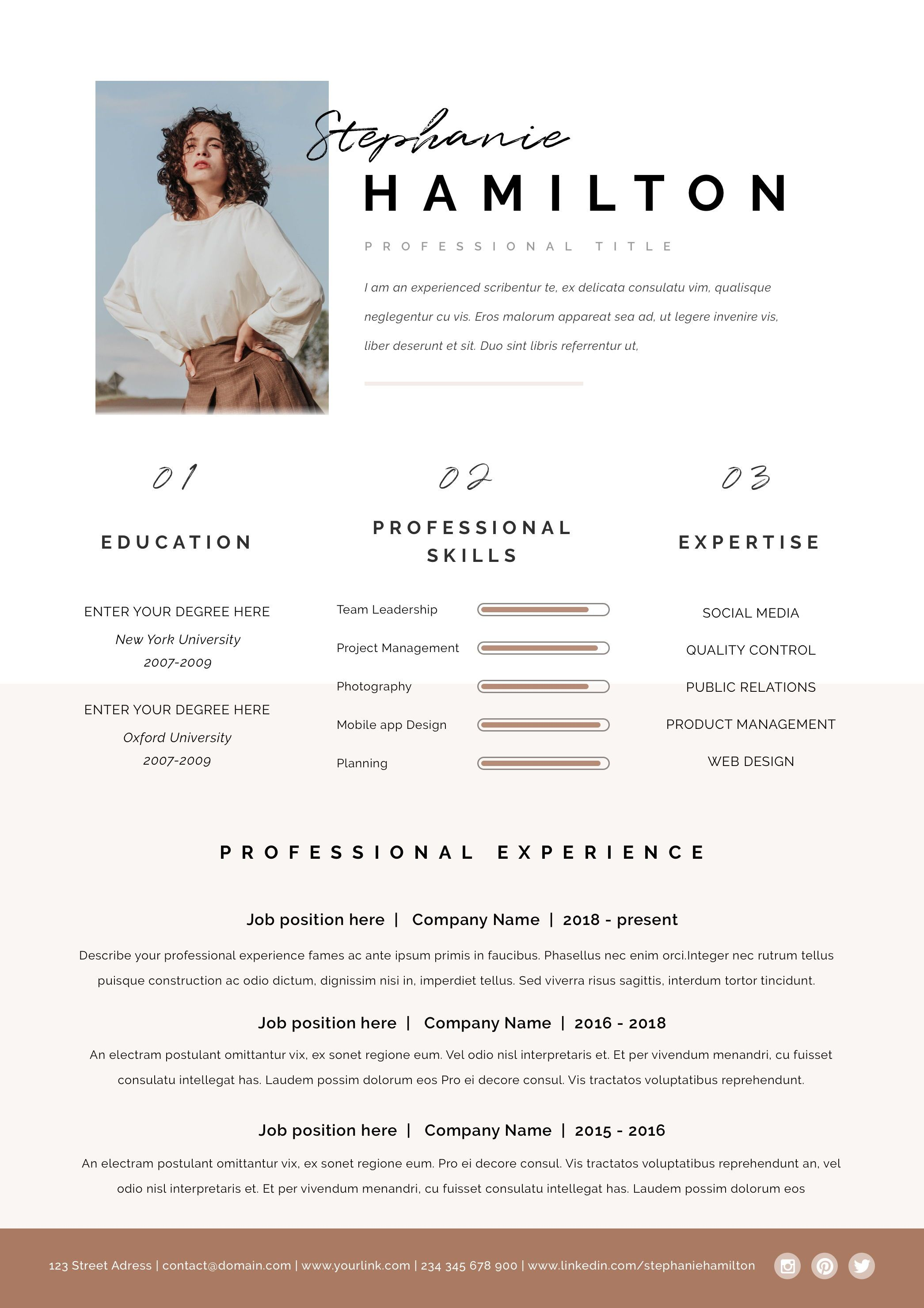 Epingle Sur Creative Resume Templates For Word And Pages