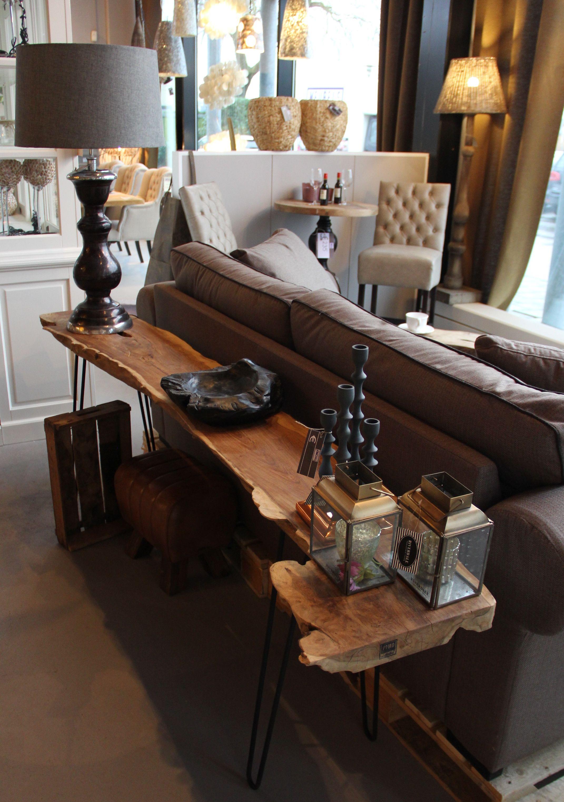 houten sidetable wood hout bruin brown interieur interior interieurwinkel