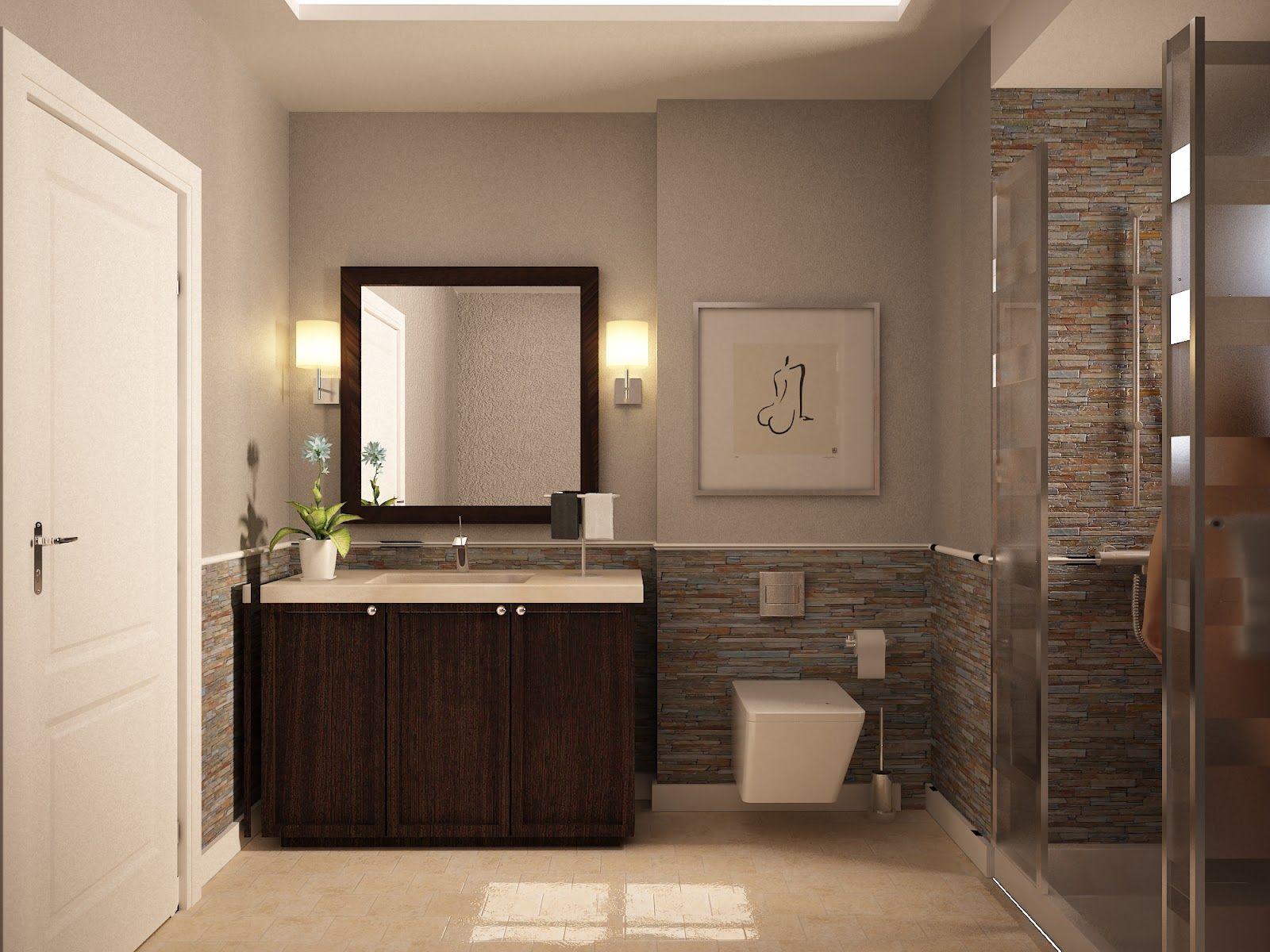 guest room bathroom  Bathroom color schemes, Small bathroom