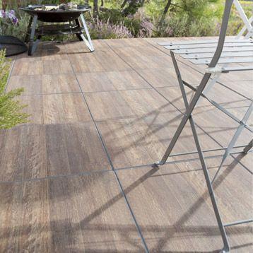 carrelage de sol extérieur en grès cérame pleine masse laos, brun