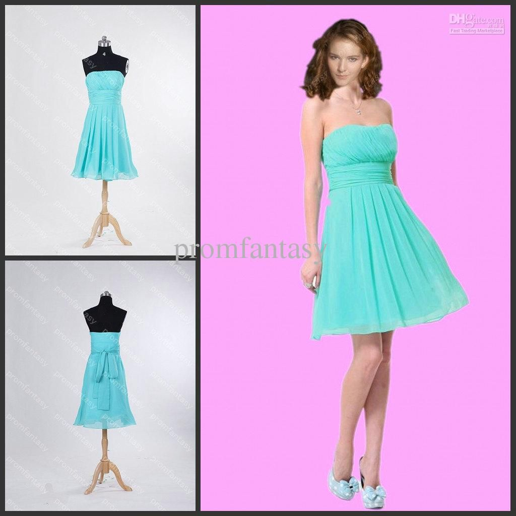 2016 free shipping real photos strapless aqua bridal party dresses 2016 free shipping real photos strapless aqua bridal party dresses short chiffon a line cheap beach bridesmaid dresses sale under 90 ombrellifo Choice Image