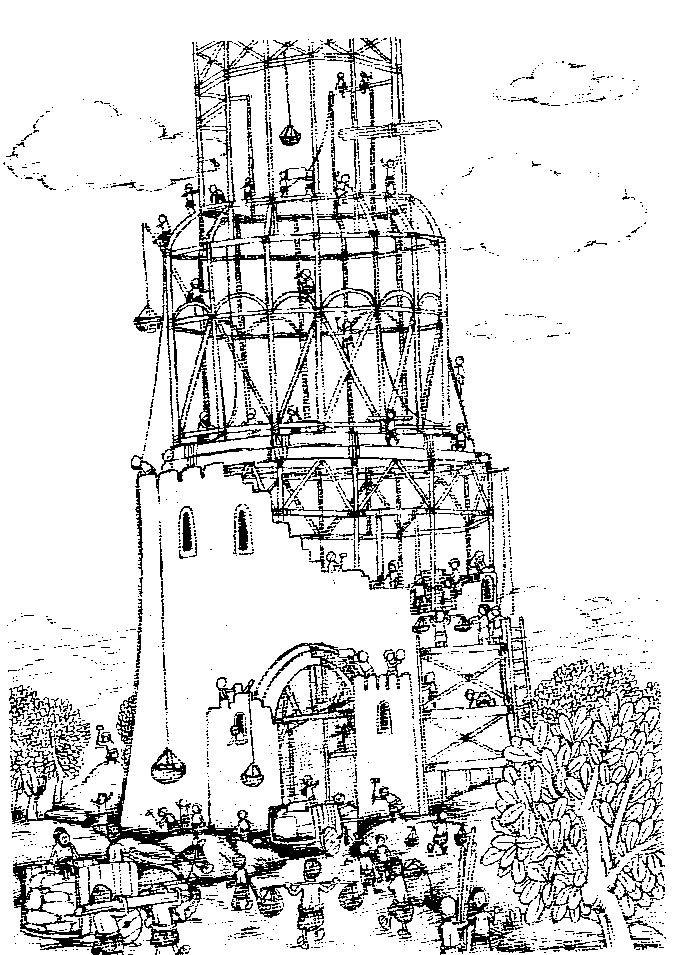 Dibujos de la torre de babel para colorear : Para Niños Con Cabeza ...