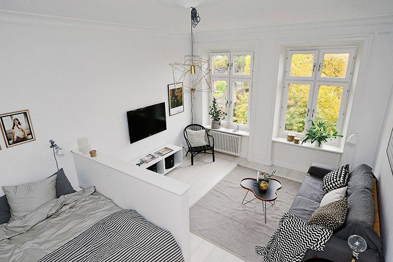 Apartamento Pequeno Com Decoracao Escandinava Quitinete Kitnet