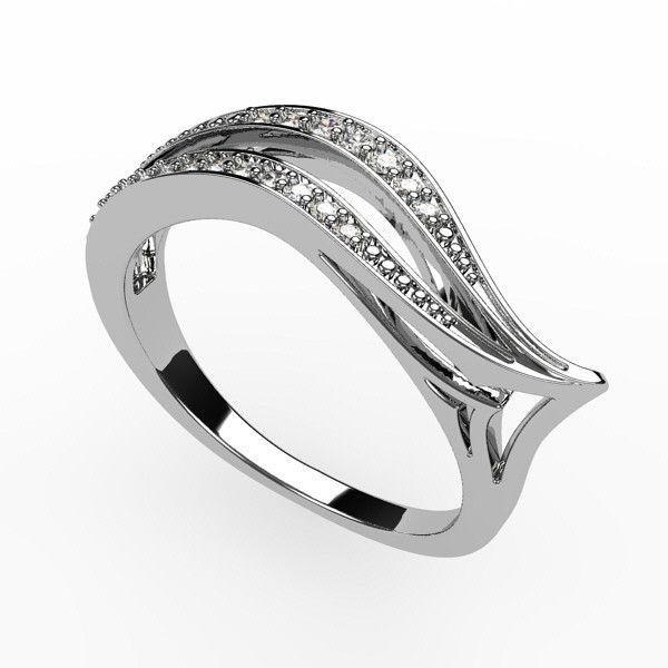 wedding ring, white gold and diamonds, www.vivalatina.fr