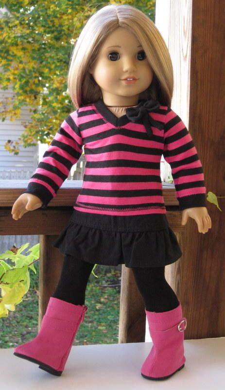 "Socks Purple made for 18/"" American Girl Doll Clothes"