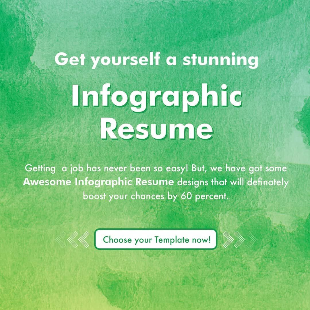 Get yourself a stunning infographic resume designed that
