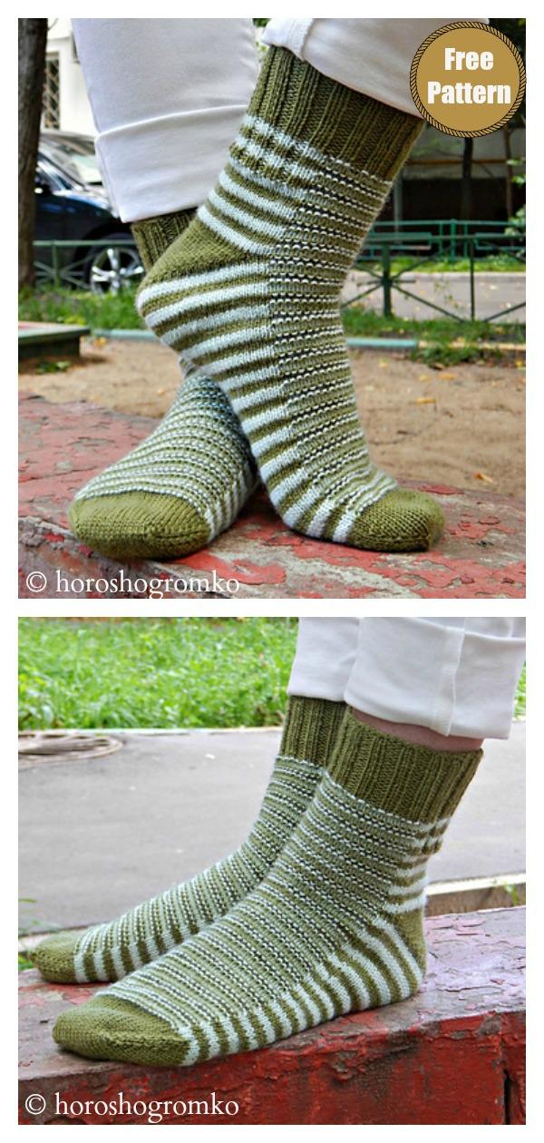 Caterpillar Socks Free Knitting Pattern