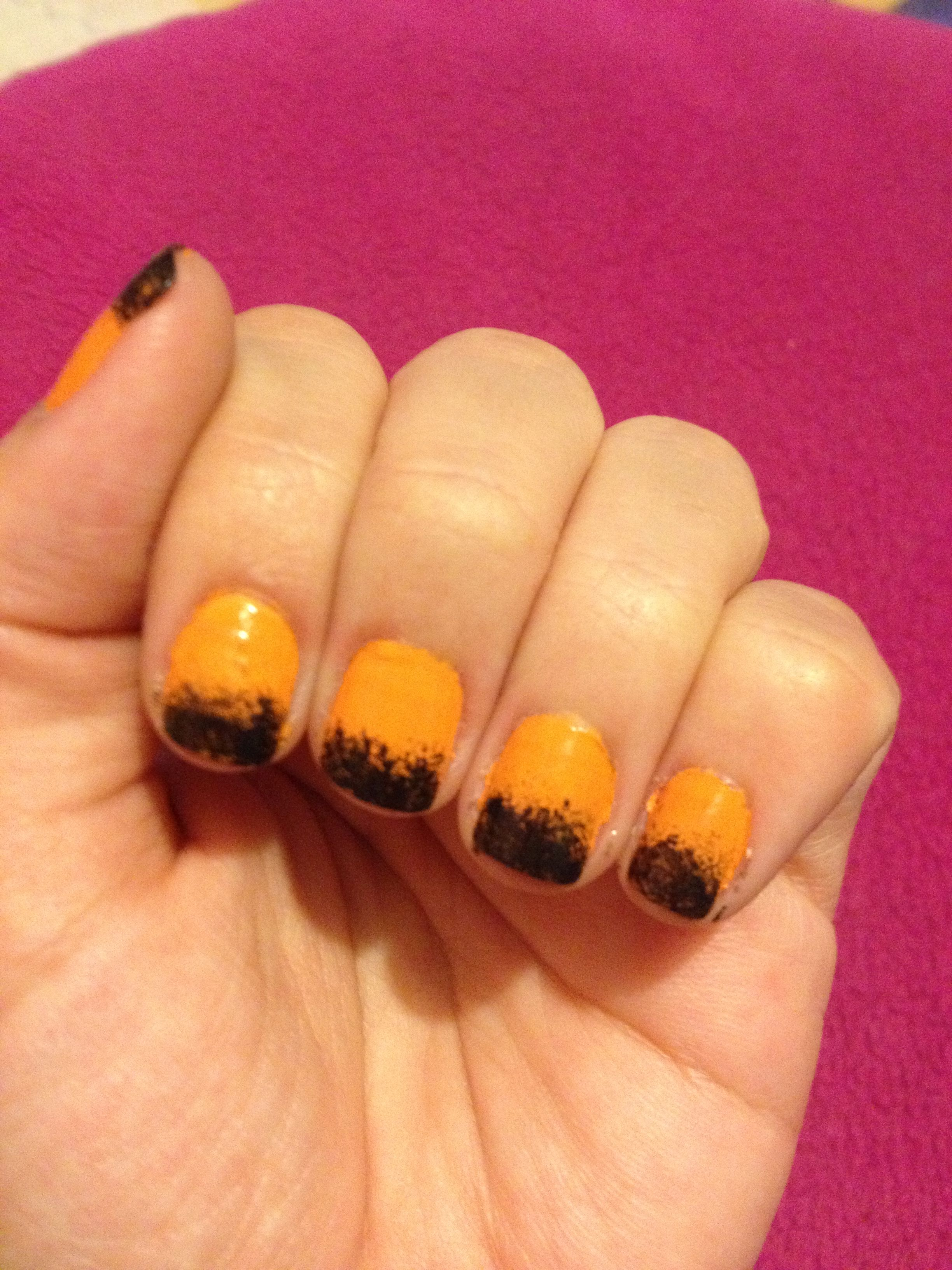 Nails ready for Halloween :)