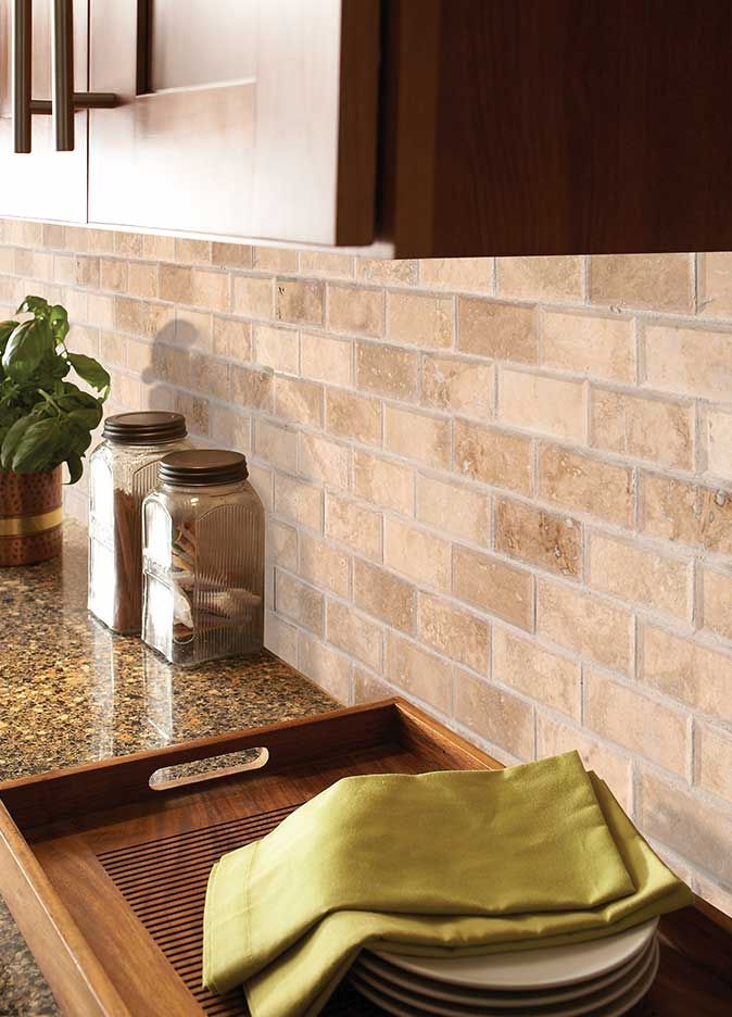 Tuscany Ivory 2x4 Honed And Beveled Wall Tile Room Scene