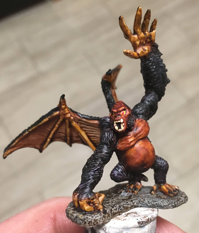 Bagheera, Barlgura, Demonic Ape, Ape Demon Custom Painted