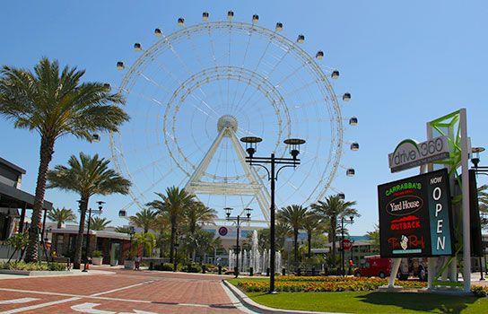 I Drive 360 - Orlando's newest retail, dining, entertainmwent complex inn International Drive florida villa rental