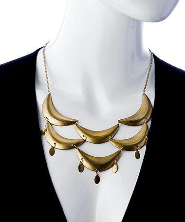 Blydesign Mandisa Gold Scalloped Bib Necklace