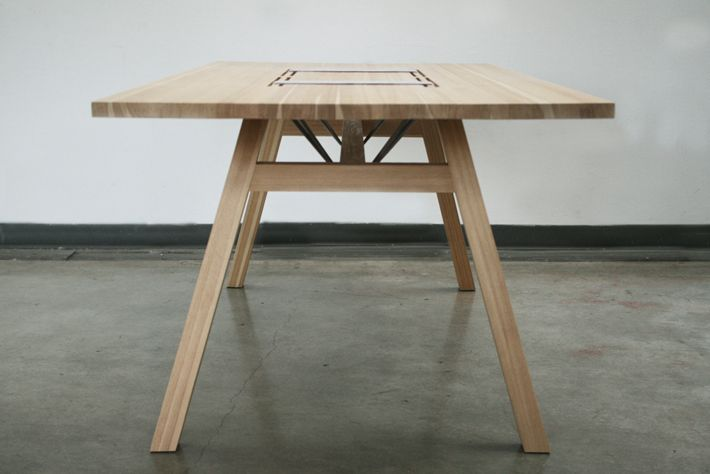 larch table is a minimal design created by denmark based designer tobias tstesen this table solution was created in close collaboration wi