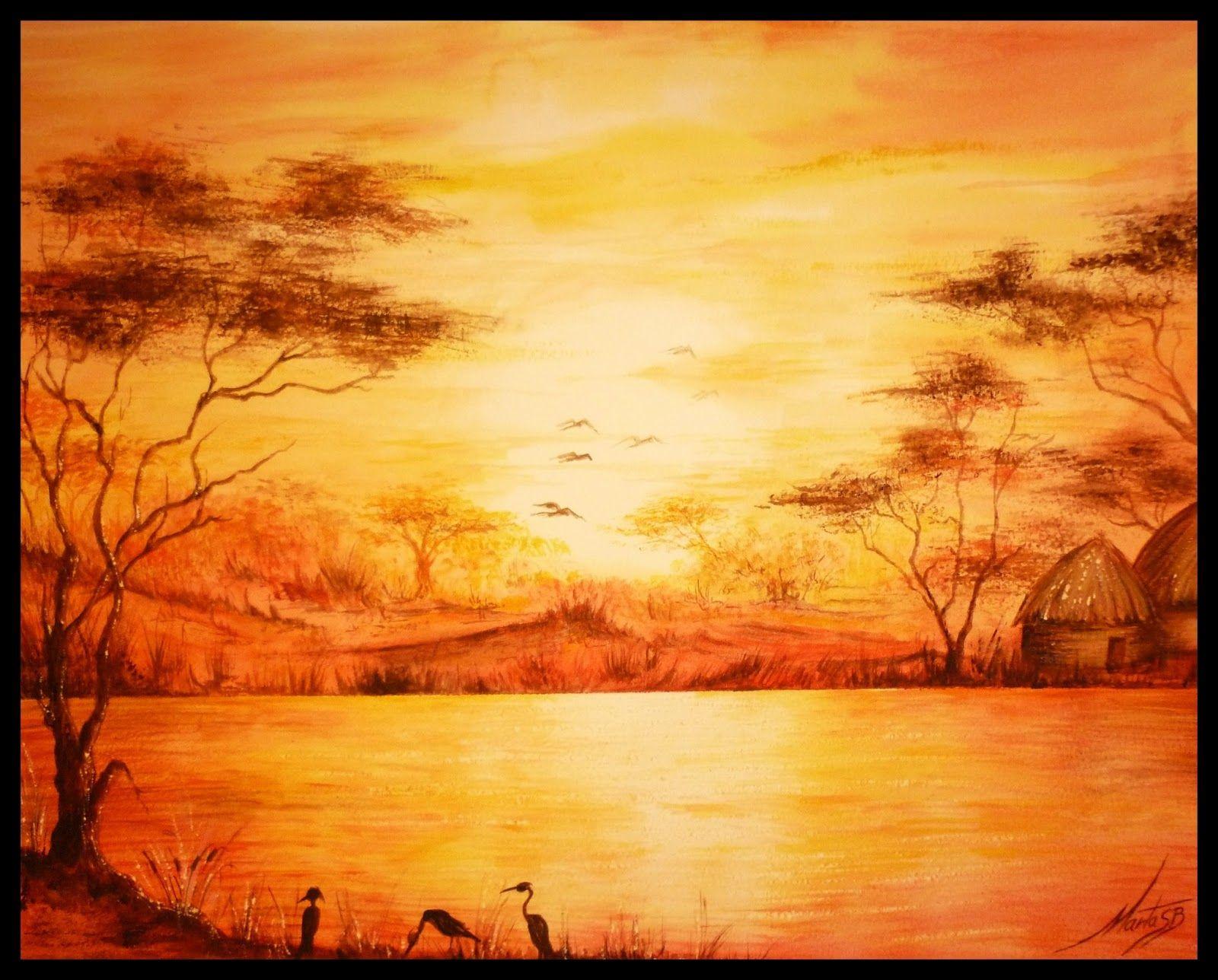 Colores Cálidos Aquí Muestro Un Cuadro De Marta Santa Basilisa Realizado únicamente Con Colores Calientes Distintos Paisajes Paisaje Japon Colores Cálidos