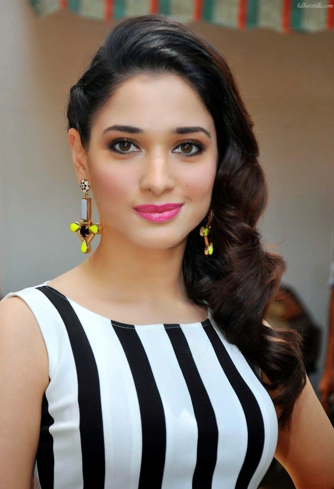 download tamanna bhatia in wavy side swept hairstyle wallpaper free
